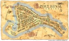 A map of Port Royal, Jamaica