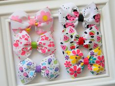 Summer Pinwheel Hair Bow Collection by Avabowtiquee on Etsy
