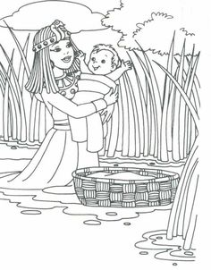 Preschool Bible Coloring Pages Elegant Baby Moses for Preschool Baby Moses Bible Story Crafts, Bible School Crafts, Preschool Bible, Bible Activities, Bible Stories, Sunday School Activities, Sunday School Lessons, Sunday School Crafts, Bible Coloring Pages