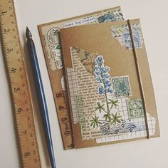 This blue-ish botanical mail arrived safely at I'm so happy that you love i… Bullet Journal Aesthetic, Bullet Journal Ideas Pages, Bullet Journal Inspiration, Junk Journal, Snail Mail Pen Pals, Snail Mail Gifts, Aesthetic Letters, Mail Art Envelopes, Art Postal