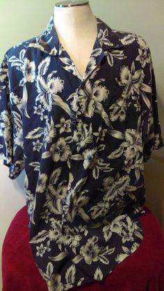 7c35a44b5eb KY S Hawaii Men s Aloha Shirt Made in USA Size L  KYs  Casual Aloha Shirt