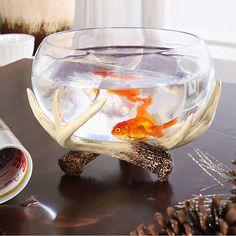 New! Creative deer horn glass fish tank Aquarium Fish Tank Fish Bowl Decoration Accessories Aquatic Pet Supplies Pet Products