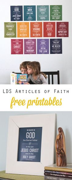 free printables for all 13 LDS Articles of Faith - great way to help kids with memorization!