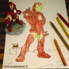 Disney Infinity -hahmot ovat oivia piirrustusmalleja!  http://luovuudenlinna.blogspot.fi/2015/03/malli-paikallaan.html