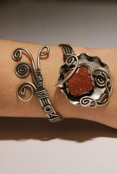 goldstone bangle jewelrygoldstone braceletFree by BeyhanAkman, $41.00