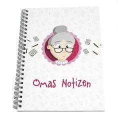 Geschenk Oma, Notizen, Notizbuch, Omas Notizen, Beste Oma