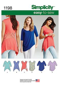 Simplicity Creative Group - Misses' Knit Tops in Two Styles