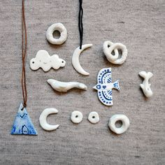 Jewelry charms clay