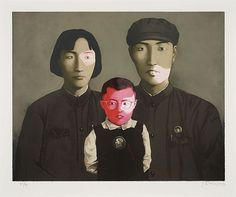 Zhang Xiaogang, 'Big Family', 1986 - by Artcurial - Briest - Poulain - F. Tajan #contemporary