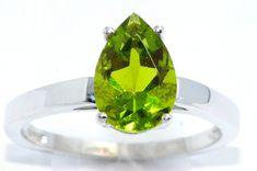 Etsy listing at www.etsy.com/listing/153701449/2-carat-peridot-pear-ring-925-sterling
