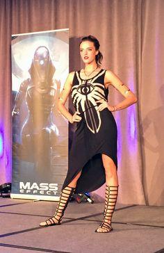 BioWare Fashion show: Dragon Age Inquisition - Cassandra Believer high-low dress #geekfashion