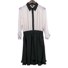 Woven Fabric Shirt Dress