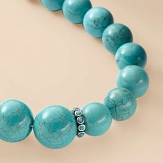 FOSSIL® Jewelry Turquoise Beaded Necklace