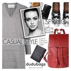 """""""Casual Style with Dudu Bags"""" by pokadoll ❤ liked on Polyvore featuring Samsung, Cédric Charlier, Givenchy, Native Union, Trowbridge and dudubags"""