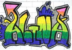 Graffiti mit dem eigenen Namen von Alina (14)
