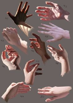 hand reference single empty open palm back fingers Digital Painting Tutorials, Digital Art Tutorial, Art Tutorials, Digital Paintings, Drawing Tutorials, Figure Drawing, Life Drawing, Painting & Drawing, Drawing Hands