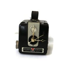 Vintage Brownie Camera Clock Desk Clock Mantel Clock by RayMels