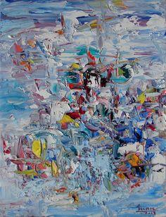 "Saatchi Online Artist: Tran Tuan; Oil, 2013, Painting ""Festival"""