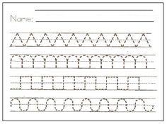 Free Printable Preschool Writing Pattern Worksheets To