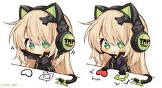 틈냥이 등 SD | 소녀전선 | 루리웹 모바일 Anime Girl Neko, Manga Girl, Anime Chibi, Kawaii Cute, Kawaii Girl, Gamers Anime, Comic Manga, Fox Girl, Pretty Anime Girl