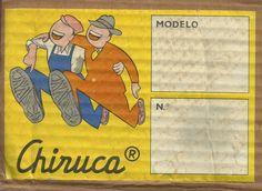 "Etiqueta capsa ""CHIRUCA"" anys 60/70. Catalunya"