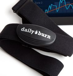 Daily Burn Heart Rate Monitor. Advanced heart rate tracking to help you reach your fitness goals. Works with all Bluetooth LE devices. Get more features by integrating with the DailyBurn iOS app. Soft fabric chest strap included. Includes replaceable battery.