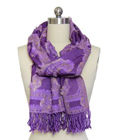 Love this Orchid Woven Cutout Wool-Blend Scarf by In Things on #zulily! #zulilyfinds