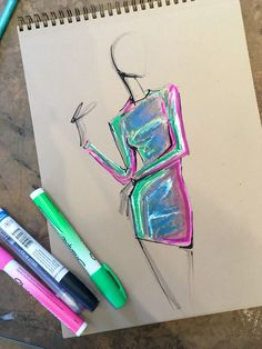 Iridescent practice by Lara Wolf #fashion #illustration #larawolf #iridescent