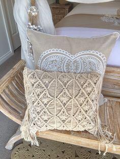 Macrame Bohemian Crochet Cushion Cover 40cm