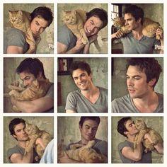 Ian and his baby Moke! So freakin Adorable <3