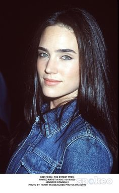 Jennifer Connelly in a denim jacket. Probably circa 2000.