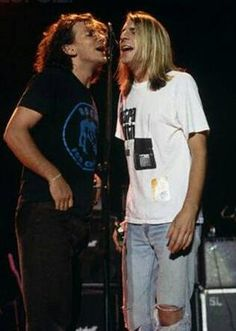 Eddie Vedder and Mark Arm