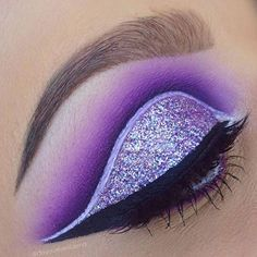 All purple everything @doyouevenblend  Loving this cut crease & graphic liner  ... | Use Instagram online! Websta is the Best Instagram Web Viewer!