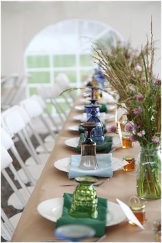 mix and match wedding reception decor