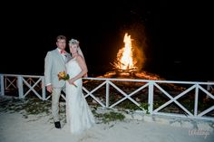 Bon fire private beach party in the Caribbean  #WeddingsByPalladium
