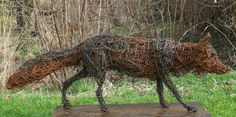 chicken wire fox sculpture - brilliant