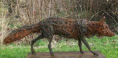 chicken wire fox sculpture - brilliant