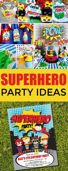 Boy Superhero Printable Party Decor - Superhero Party -Instant Download and Editable File - Personalize and Print at home with Adobe Reader #Affiliate