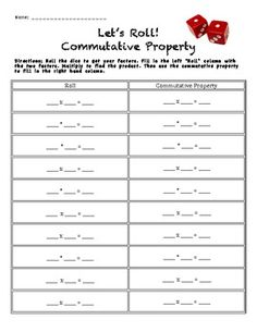 math worksheet : 1000 images about math multiplication commutative on pinterest  : Associative Property Of Addition And Multiplication Worksheets
