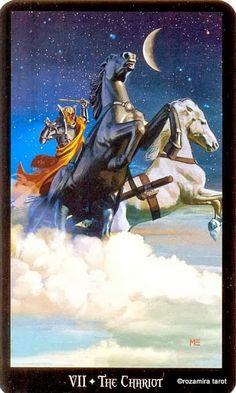 VII - Le chariot - Tarot sorcières par Ellen Dugan & Mark Evans