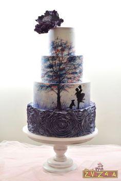 Silhouette Wedding Cake: