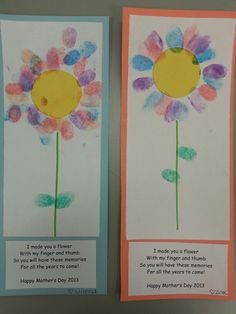 Mother's Day craft and poem.