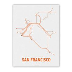 San Francisco Screenprint White, $24, now featured on Fab.