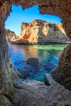 Caves in Lagos, Portugal....x