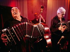 Tango Musicians José Libertella (left) and Luis Stazo of Sexteto Mayor -- National Geographic -- Photo by Pabko Corral Vega