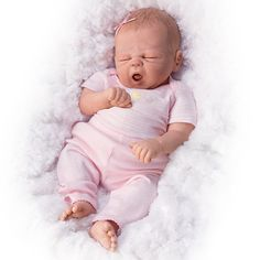 Ashton+Drake+Truly+Real+Babies | Ashton Drake Violet Parker So Truly Real So Sleepy Girl Baby Doll