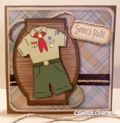 Boy Scout Silhouette Card