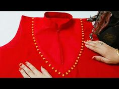 Hello friends Today I tell you that how to make Churidar collar neck design. This design is very easy to make. This design is very beautiful. I hope you enjo. Kurti Neck Designs, Dress Neck Designs, Saree Blouse Designs, Churidar Pattern, Aya Couture, Princess Cut Blouse, Designer Blouse Patterns, Design Patterns, Design Ideas