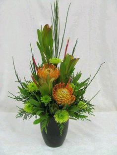 #Adornosflorales. Pincushion floral arrangement #Vegetablegardenideas