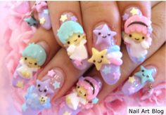 Japanese Nail Art | Design » Japanese Nail Art: How can you keep the decals from falling?